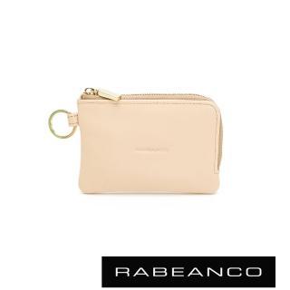 【RABEANCO】經典小牛皮萬用鑰匙零錢包(杏)