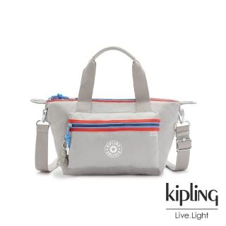 【KIPLING】前衛太空灰個性拉鍊手提肩背托特包-ART MINI P