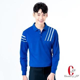 【JYI PIN 極品名店】優質跳色拼接時尚POLO衫_藍(PW823-55)