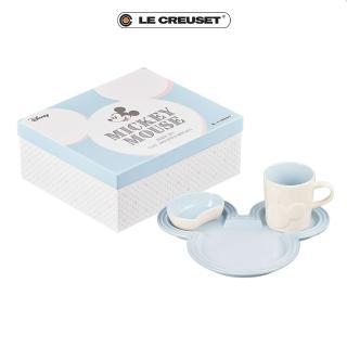 【Le Creuset】餐桌用具套組(迪士尼米奇系列/海岸藍)