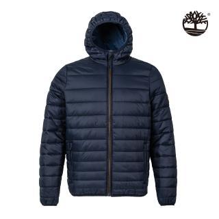 【Timberland】男款深寶石藍伊士曼山尼龍防水保暖連帽外套(A2EP9433)
