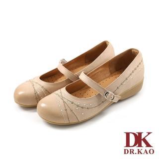 【DK 高博士】氣質少女風格 空氣娃娃女鞋 87-9831-60(米色)