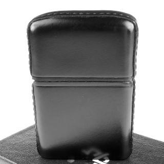 【Zippo】日系~頂級松阪牛皮革包覆打火機-JP番號認證(黑色款)