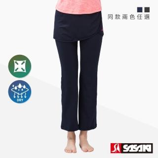 【SASAKI】高彈力有氧韻律裙長褲-女-二色任選