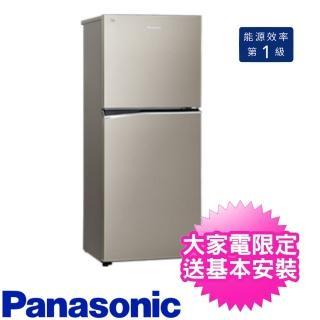 【送時尚運動提袋★Panasonic 國際牌】167公升二門電冰箱(NR-B170TV-S1)