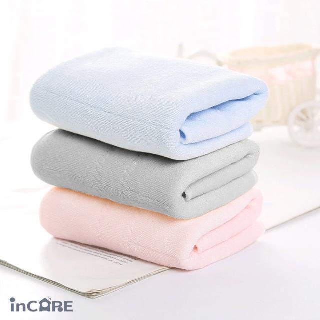 【Incare】純棉纖維乳膠親膚吸水毛巾(3入組)/