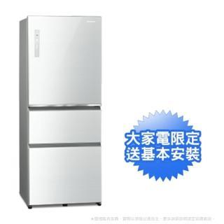 【Panasonic 國際牌】500公升一級能效玻璃三門變頻冰箱-翡翠白(NR-C501XGS-W)