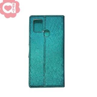 Samsung Galaxy A21s 6.5吋 月詩蠶絲紋時尚皮套 多層次插卡功能 側掀磁扣手機殼/保護套-藍綠紫黑