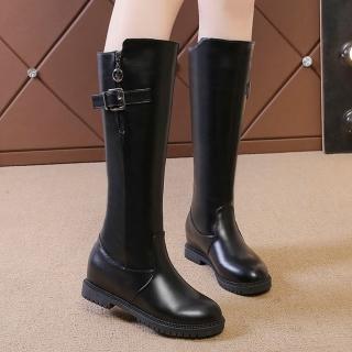【LN】現貨 圓頭側扣環低跟騎士長靴(高筒靴/靴子)