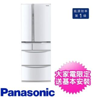 【Panasonic 國際牌】501L日製六門變頻冰箱翡翠白(NR-F507VT-W1)