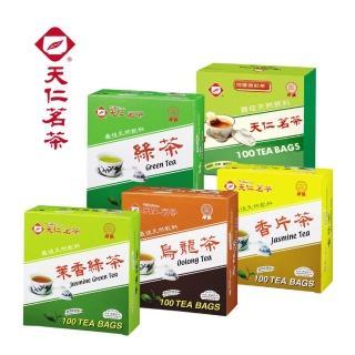 【天仁茗茶】天仁防潮包袋茶100入(綠茶/烏龍茶/紅茶/茉莉綠茶/香片茶)