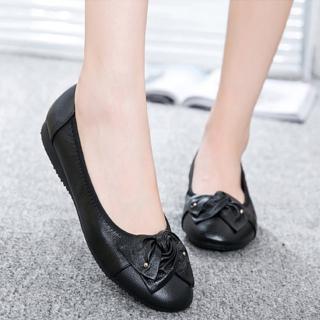【LN】現貨 大碼真皮雅致蝴蝶花朵平底鞋(娃娃鞋/淑女鞋)