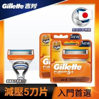 【Gillette 吉列】吉列Fusion鋒隱手動刀片(4刀頭 2入)