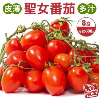 【果農直配】台灣嚴選溫室聖女番茄(8盒_600g/盒)