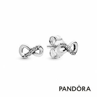 【Pandora官方直營】無限璀璨針式耳環/