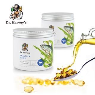 【Dr.Harvey's 哈維博士】犬用健康閃亮黃金膠囊 180顆裝(100%純天然深海鮭魚油)