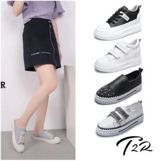 【T2R】正韓空運-真皮隱形增高老爹鞋-增高7公分-多款多色