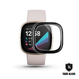 【T.G】Fitbit Versa 3/Sense 軟性防爆曲面保護貼(滿版)