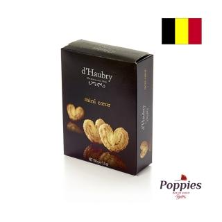 【POPPIES 帕皮思】比利時帕皮思迷你心型奶油酥餅100公克(進口零食)