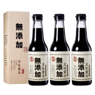 【金蘭食品】無添加原味醬油500ml x3入(無添加/原味/健康/純粹/推薦)