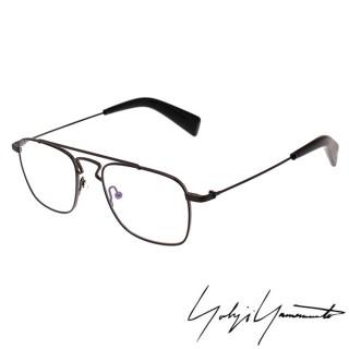 【Y-3 山本耀司】Yohji Yamamoto方型時尚造型光學眼鏡(霧黑-YY3005-002)