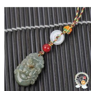 【十方佛教文物】玉鼠{緬甸玉}五色線掛飾(平安財運順利)