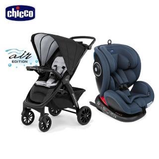 【Chicco】Seat 4 Fix Isofix安全汽座+Bravo極致完美手推車特仕機能版(嬰兒手推車)