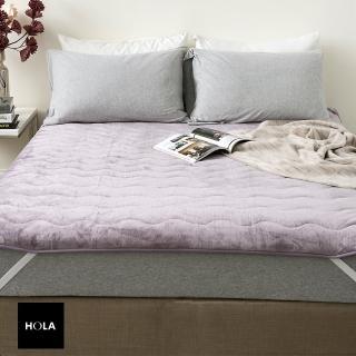 【HOLA】法蘭絨防靜電保暖墊 單人 紫色