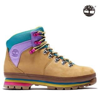 【Timberland】女款小麥黃磨砂革拼接6吋健行靴(A4126231)/