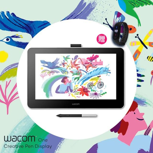 【贈小米手環5】Wacom One Creative Pen Display 創意手寫繪圖液晶螢幕(DTC133W1D)