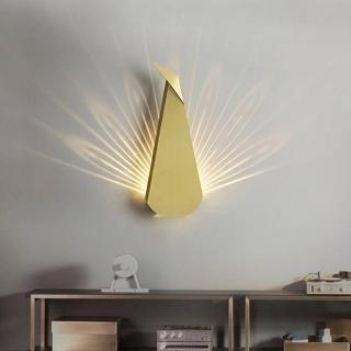 【H&R 安室家】光影孔雀壁燈(ZA0049)