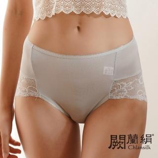 【Chlansilk 闕蘭絹】迷人後臀寬版蕾絲100%蠶絲中高腰內褲五件組-型