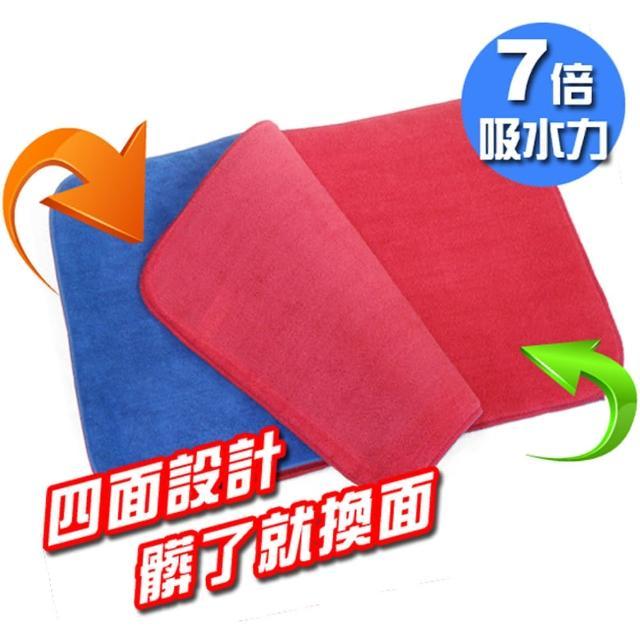 【金德恩】多層次超吸水纖維地墊隨機色/