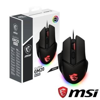 【MSI 微星】CLUTCH GM20 ELITE 電競滑鼠