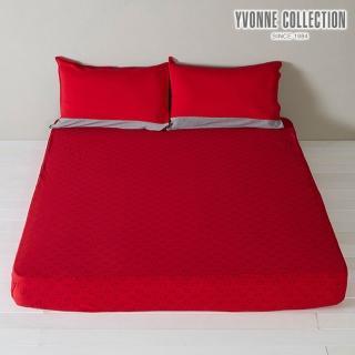 【Yvonne Collection】豬豬印花雙人床包(紅)