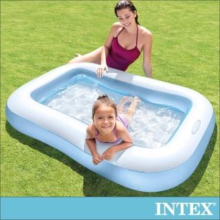 【INTEX】長方形充氣泳池/攜帶浴池166x100x深25cm 90L 適2歲+(57403)