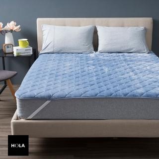【HOLA】可水洗抗菌舒壓保暖墊單人-藍