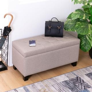 【簡約風】凱莉耐抓皮收納穿鞋椅/長凳/雙人椅-89x38x43cm(DIY)