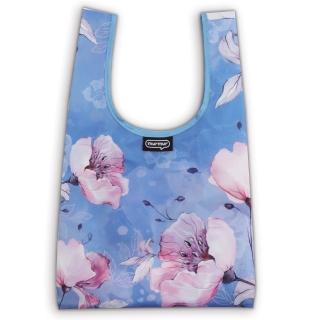 【murmur】粉藍花(購物袋.環保袋.可收納.便當包)