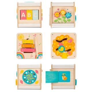 【LE TOY VAN】啟蒙玩具系列-迷你六面啟蒙木質遊戲箱(PL105)