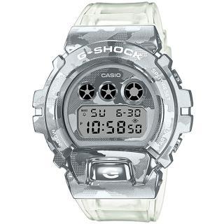 【CASIO 卡西歐】G-SHOCK 冰酷迷彩金屬電子手錶(GM-6900SCM-1)