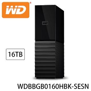 【WD 威騰】My Book 16TB USB3.0 3.5吋外接硬碟(WDBBGB0160HBK-SESN)