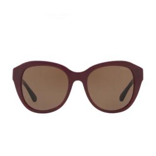 【COACH】潮流貓眼框珊瑚紅色框茶色鏡片(8231F-550973)