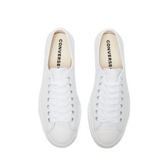 【CONVERSE】JP OX 皮革 白 男女休閒鞋(164225C)