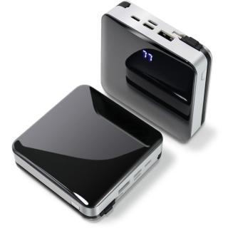 【POLYBATT】自帶線行動電源for iPhone/ Type-C /Micro LED電量顯示 USB充電 移動電源
