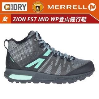 【MERRELL】女 ZION FST MID WATERPROOF登山健行鞋-黑/薄荷綠 ML035398(登山鞋/運動鞋/防水鞋)