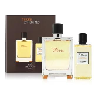 【Hermes 愛馬仕】大地男性淡香水禮盒 航空版(淡香水100ml+沐浴露80ml)