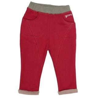 【goomi】台灣第一文創童裝 - 小童雙色刷毛哈倫褲(共2色)
