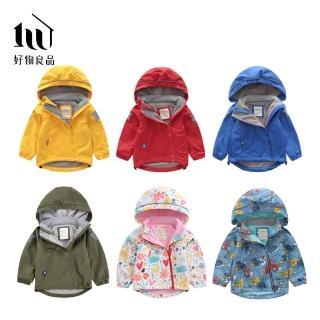 【好物良品】兒童輕量雙拉鍊搖粒絨防水保暖衝鋒外套(兒童外套 六色任選)