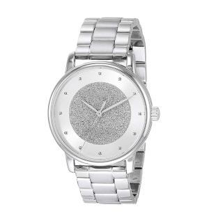 【COACH】氣質銀白馬車logo不鏽鋼錶帶時尚腕錶(14503493)/